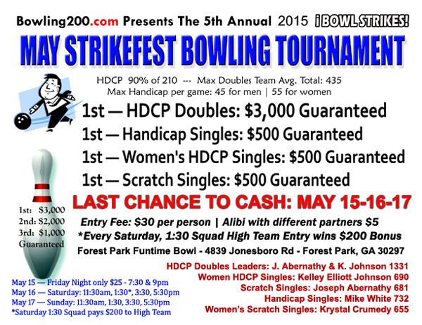 2015 May StrikeFest Bowling Tourney