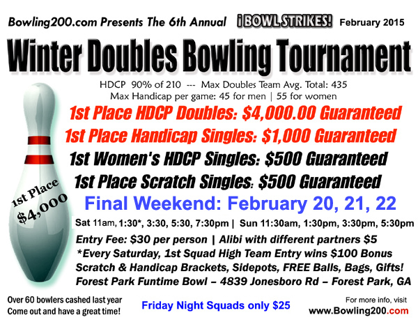 $4000 Bowling Tournament